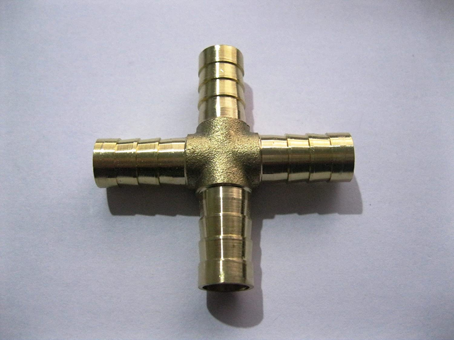 Y-shaped Tee 3//4 3//8 5//8 Hose Barb Tee T Union Fitting Intersection External Diameter sy66 2PCS Brass Hose Splicer Fitting 2, 1//4 Y-shape 6MM
