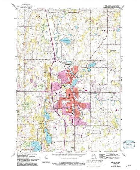 Amazon Com Yellowmaps West Bend Wi Topo Map 1 24000 Scale 7 5 X