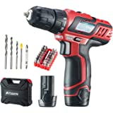 AOBEN 12V Max Cordless 3/8-Inch Drill/Driver Kit AB7307T 2-Speed Lightweight with 2 Lithium-Ion Batteries, Charger, Drill Set for Men Women DIY
