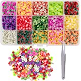 Duufin 10500 Pcs Nail Art Slices Fruits Slices Polymer Nail 3D Slice Colorful DIY Nail Art Supplies with a Tweezers for DIY C