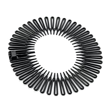 Amazon.com   Black Plastic Flexi Comb Zig Zag Sports Headband Hair Band by  Other   Beauty a08f85b19a3