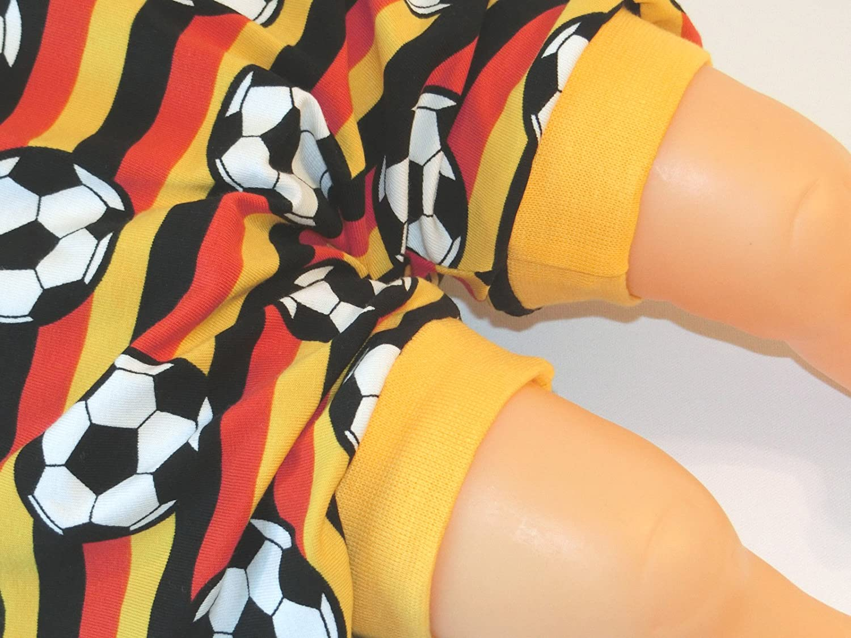 Fussball Kurze Pumphose Gr/ö/ße 86//92 Baby Hose Mitwachshose Motiv