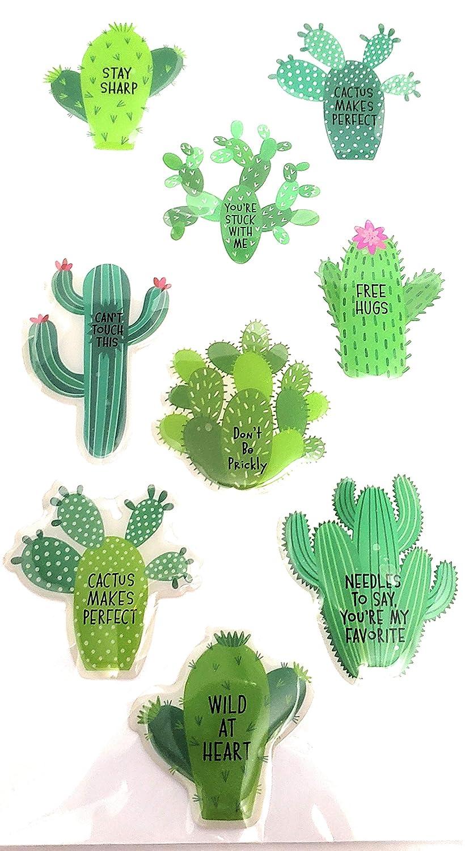 Raised Cactus Stickers 9ct.