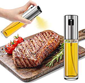 STSUNEU Olive Oil Sprayer for Cooking, 100ml Food-Grade Glass Oil Bottles Great for Thanksgiving Roast Turkey, BBQ, Salad, Cake Baking