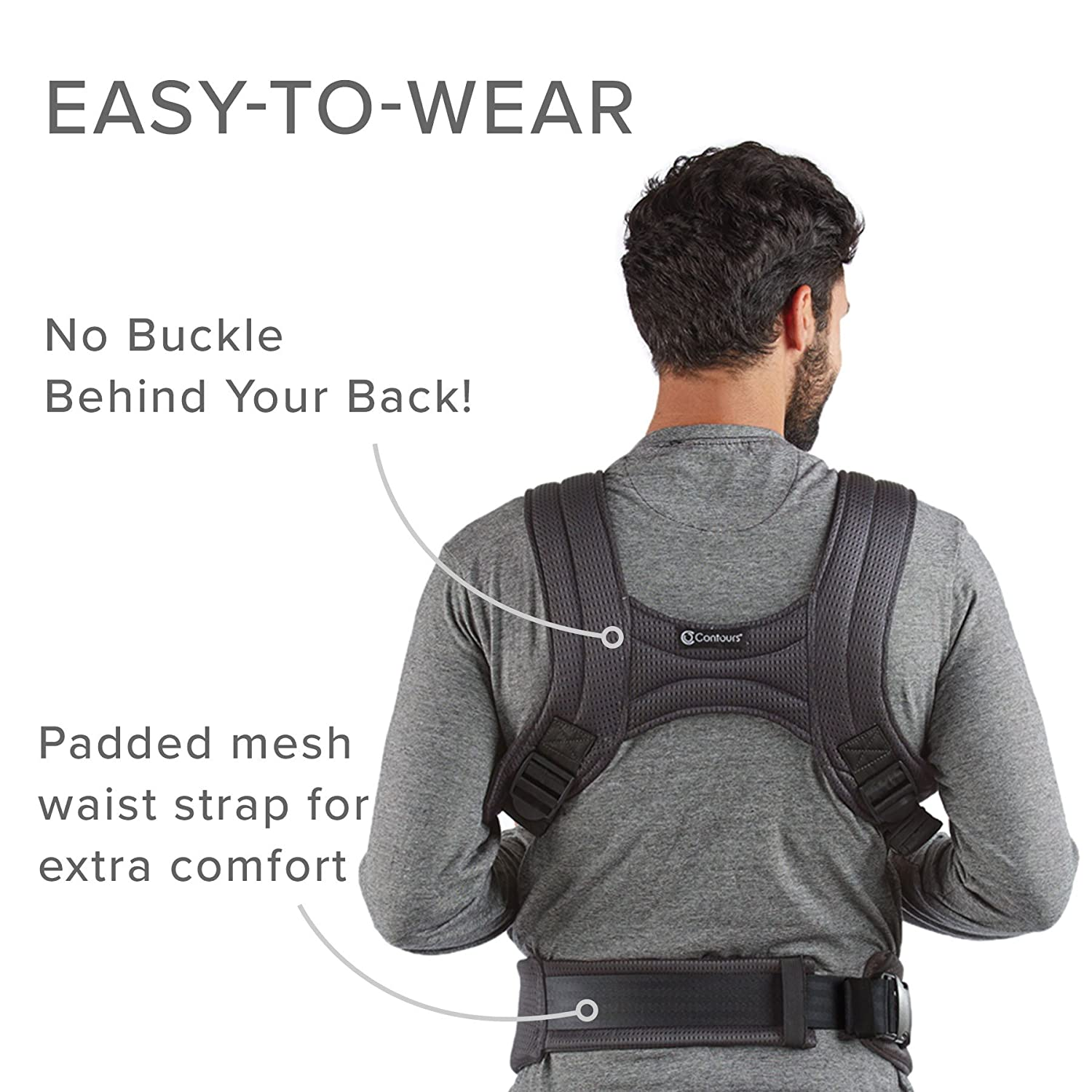 Contours Love 3-in-1 Child Baby Carrier with 3 Seating Positions, Black