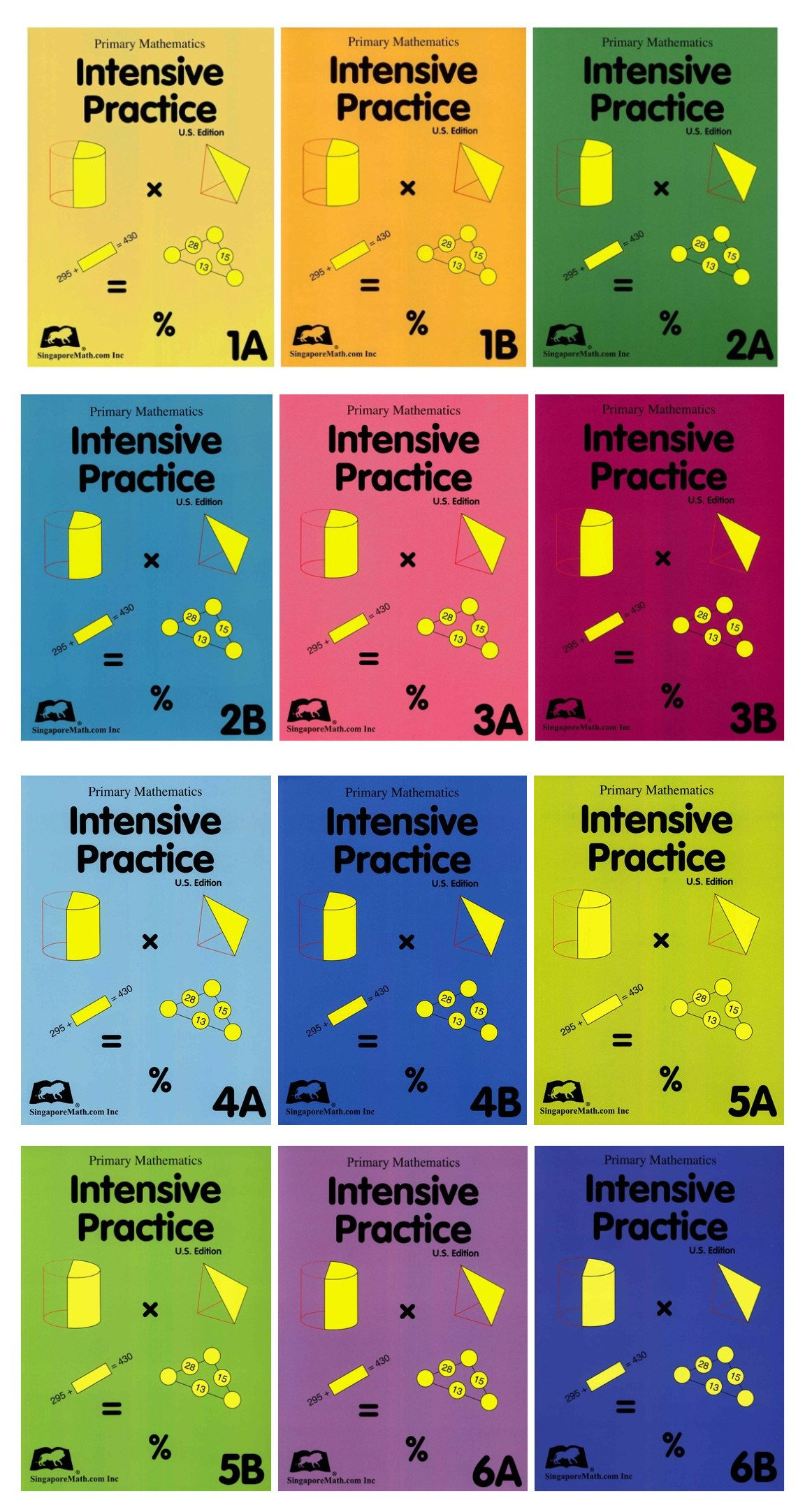Download Primary Math Intensive Practice 12 Books Set: 1A, 1B, 2A, 2B, 3A, 3B, 4A, 4B, 5A, 5B, 6A, 6B PDF