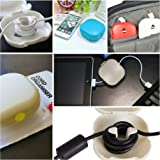 Cord Storage Holder Tangle-Free - Cable Shortener - Cord Winder USB, Earbud Cord Organizer Headset Headphones, Cord Keeper for Power Cords, Earphone Wrap Carrying Pouch Case, Storage Box, Cable Turtle