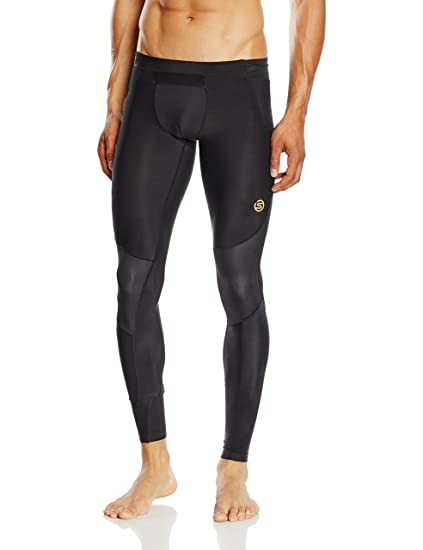 SKINS Men's A400 Compression Long Tights, Black, X-Small