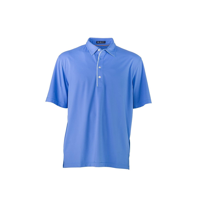 JELFY Polo Tejido técnico - Polo de Golf para Hombre - Pan Azul ...