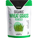 PROBASE NUTRITION Organic Wheatgrass Powder - 1 Pound - Rich in Immune Vitamins, Fibers, Fatty Acids and Minerals - Supports