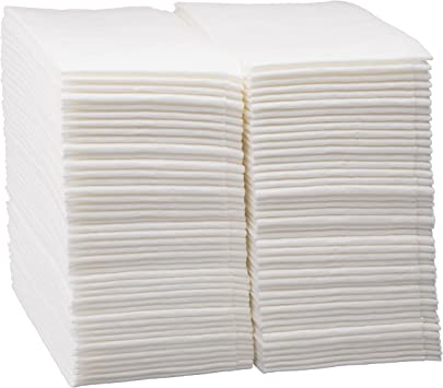 Hand Napkins//Linen-Feel Guest Towels White BloominGoods Disposable Cloth-Feel Tissue Paper Pack of 100