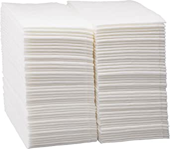 100 Count Luxury Linen Feel Disposable Guest Hand Towels in Bulk, Soft & Absorbent Cloth Like Paper Napkin for Bathroom, Kitchen, Weddings, Parties, Dinners or Events, White by eDayDeal
