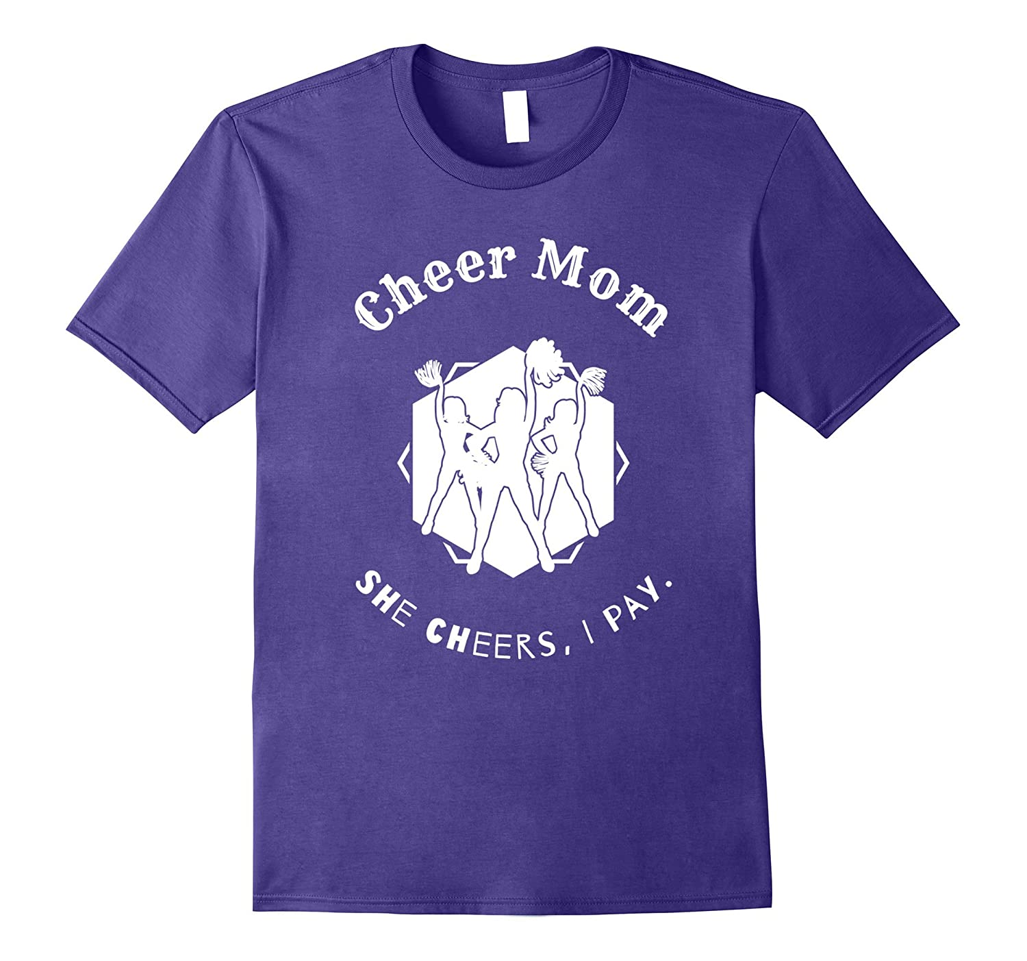 Cheer Mom She Cheers I Pay T Shirts Funny Quotes Flip Bling- TPT