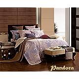 Dolce Mela DM475K Jacquard Damask Luxury Bedding Duvet Covet Set, King