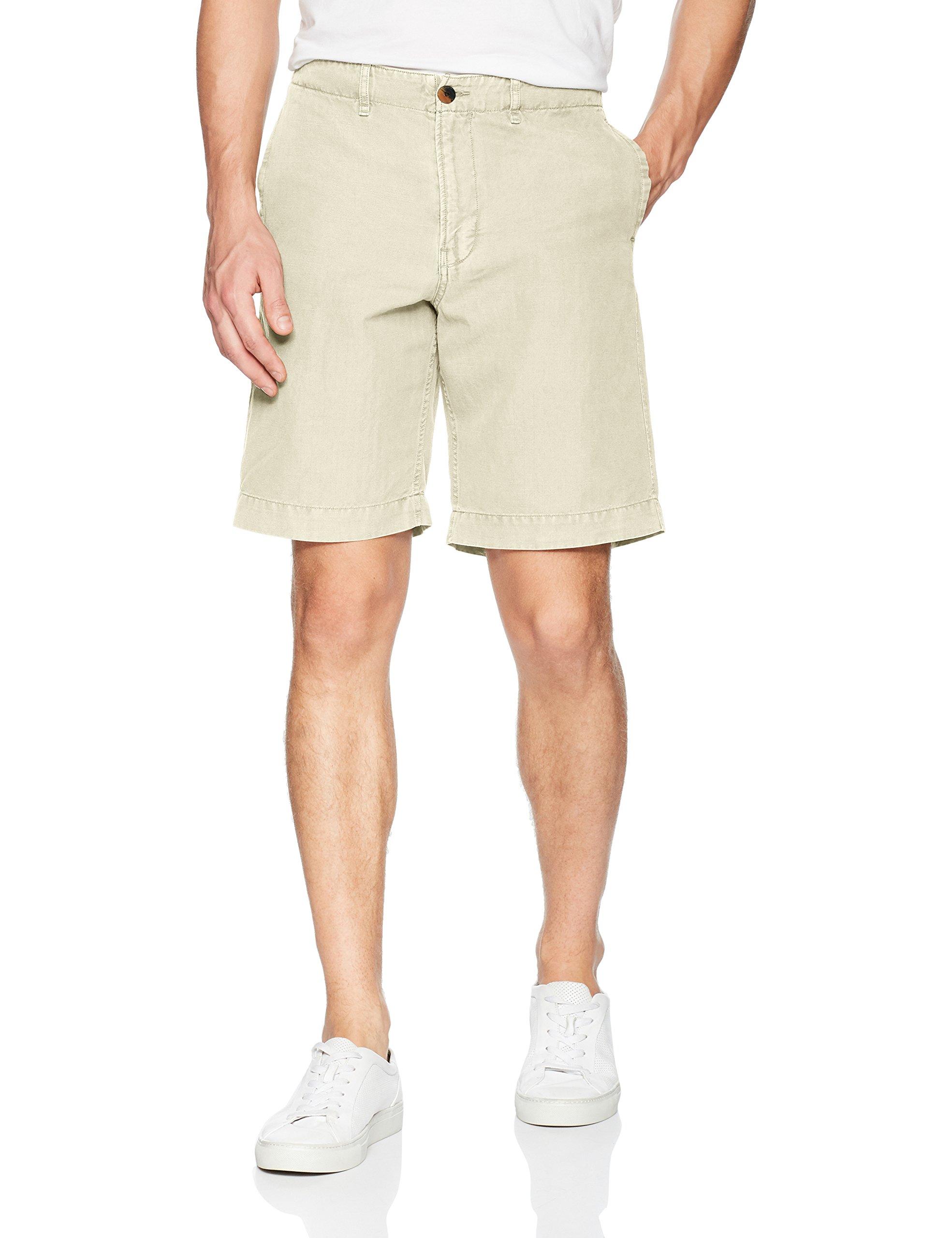Billy Reid Men's Clyde Chino Shorts, Eggshell, 32