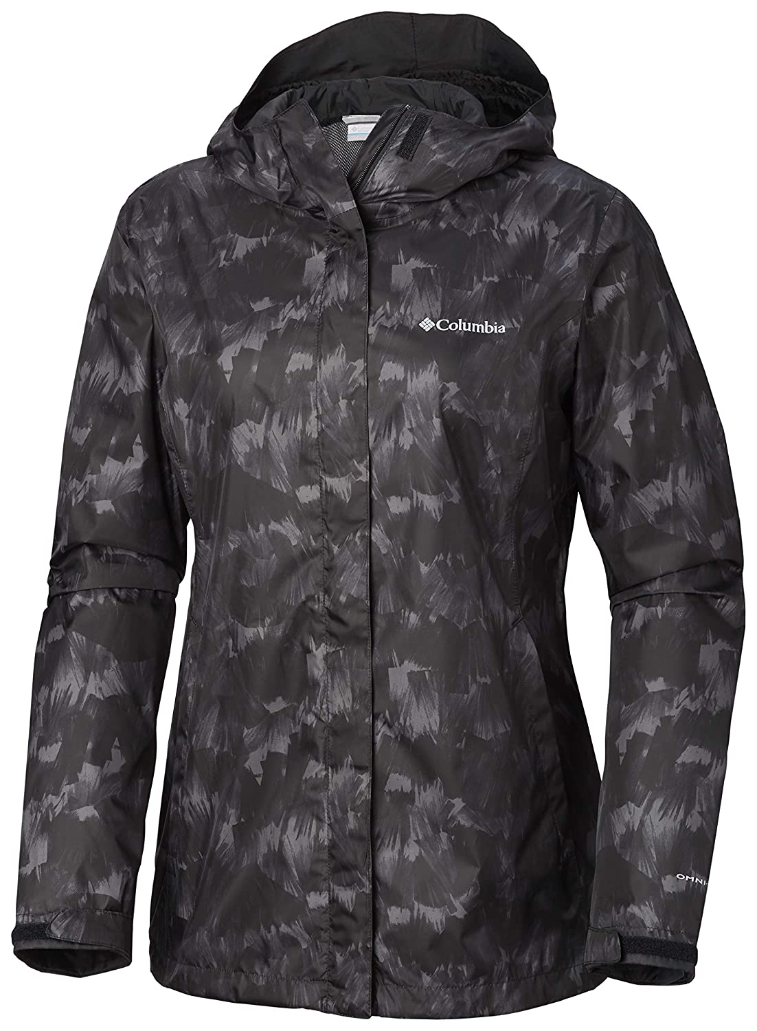 Black Quartz Print Columbia Women's Arcadia Print Jacket, Waterproof & Breathable