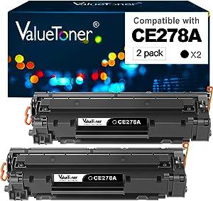 Valuetoner Compatible Toner Cartridge Replacement for HP 78A CE278A for Laserjet Pro M1536dnf, P1606, P1606dn, P1566, P1560, M1536 MFP Printer (Black, 2 Pack)