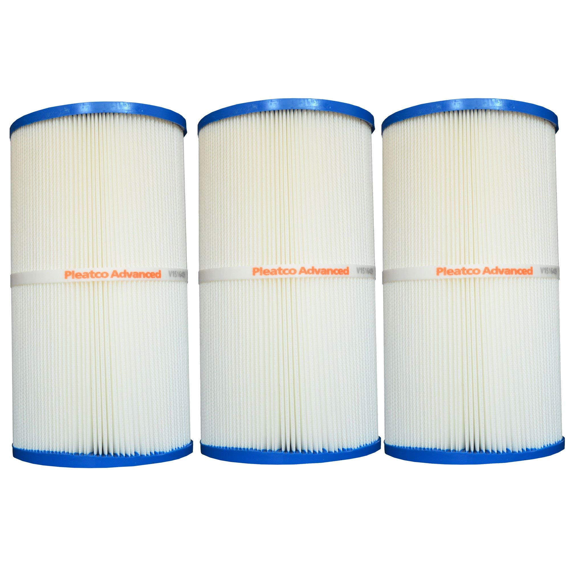 Pleatco PWK30 Pool Spa Replacement Filter Cartridge (3 Pack) by Pleatco