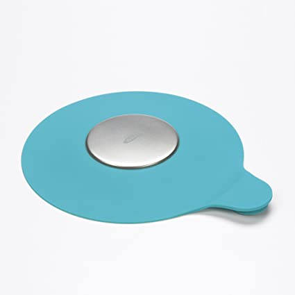 OXO Tot Silicone Tub Drain Stopper- Aqua Shower drain hair catcher
