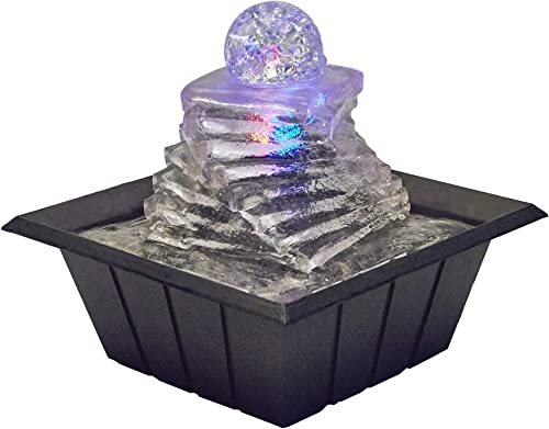 OK Lighting 8 H Table Fountain with Light