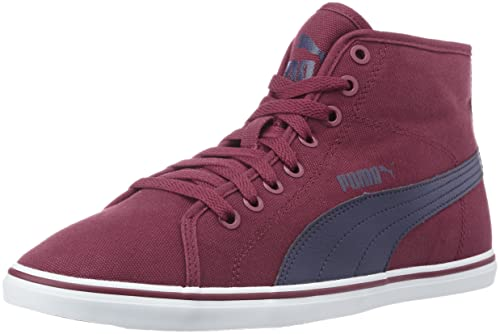 Puma Men s Elsu V2 Mid Cv Idp Rhododendron and Peacoat Sneakers - 10  UK India 3dab22ac9