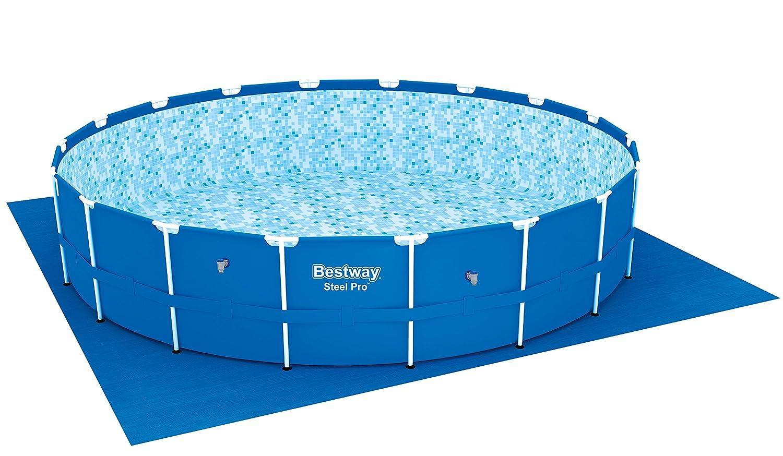 Bestway Steel Pro 56462 - Piscina (Piscina con Anillo Hinchable, Círculo, 23062 L, Azul, 110 cm, 3794 l/h): Amazon.es: Jardín