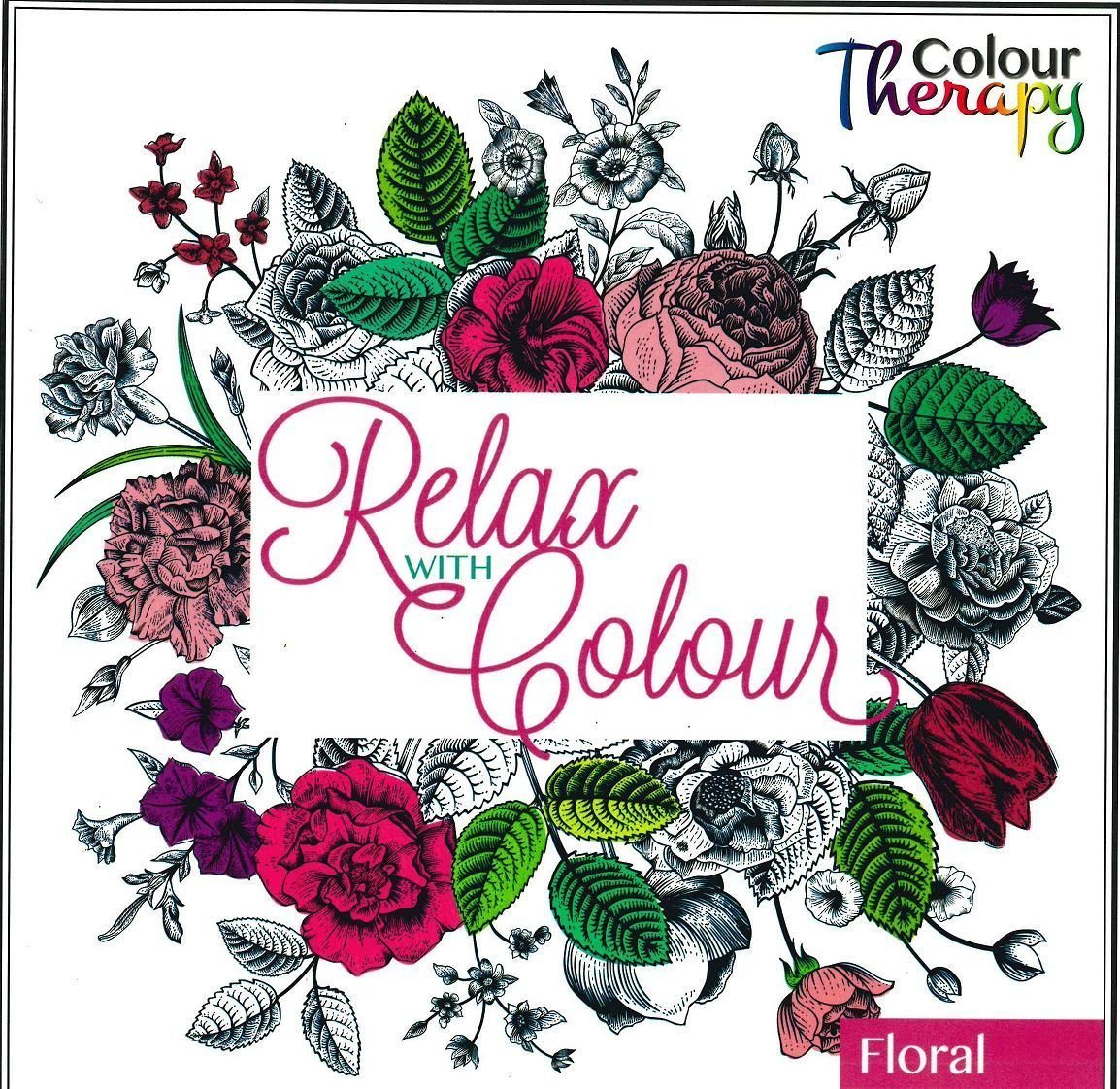 Colour Therapy Art Colouring Book - Relax With Colour - Floral ARPAN