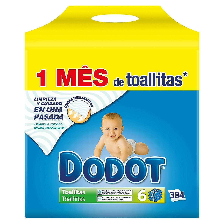 Dodot - Pack de 6 unidades con 64 toallitas, 384 toallitas en total Procter & Gamble 8001090134288