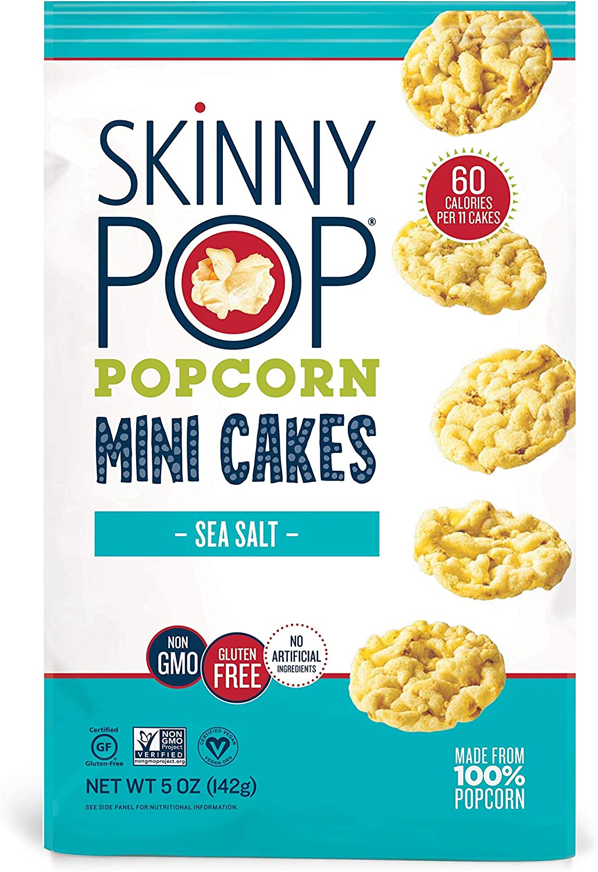SkinnyPop Mini Popcorn Cakes, Sea Salt, 5 Ounce