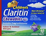 Claritin 24 Hour 5mg Grape Chewable Tablets