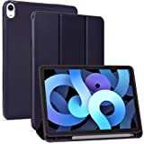 Arae for iPad Air 4 Generation 10.9 Case (2020) Auto Wake / Sleep Feature Standing Cover, Blue