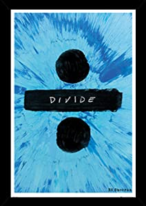 Ed Sheeran Divide Poster in a Black Wood Frame (24x36) 24618-PSA034244