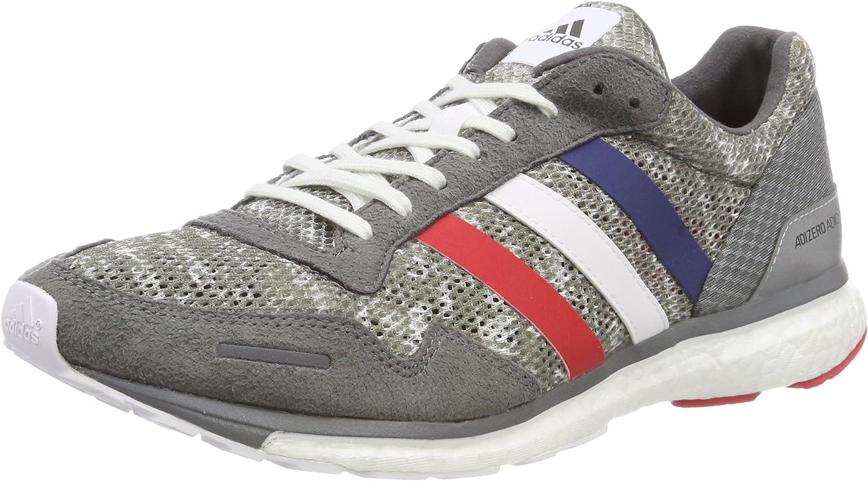 Adidas Adizero Adios 3 Aktiv, Zapatillas de Deporte para Hombre, Gris (Gricua/Ftwbla/Escarl 000), 39 1/3 EU: Amazon.es: Zapatos y complementos