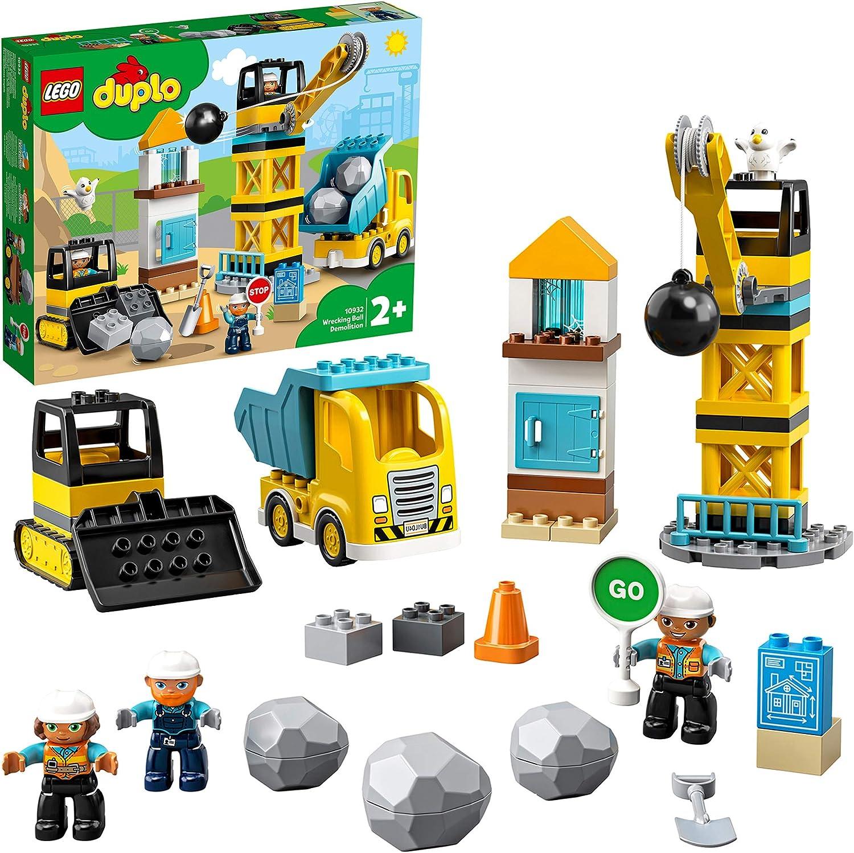 DUPLO Town DUPLO Construction Derribo con Bola de DemoliciónSetde Construcción con Camión, GrúayBuldócer,JuguetesparaNiños Pequeños 2+, multicolor (Lego ES 10932)