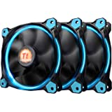 Thermaltake CL-F055-PL12BU-A Riing 12 Static Pressure Circular Ring Blue Led Case/Radiator Fan with Anti-Vibration Mounting S