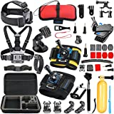 SmilePowo Gopro Session Camera Accessory for GoPro Hero 6,5 Black, Hero Session,Hero 5,4,3,3+,Session,GoPro Fusion,AKASO,SJCAM,DBPOWER,Sports Action Camera,Accessories Kit