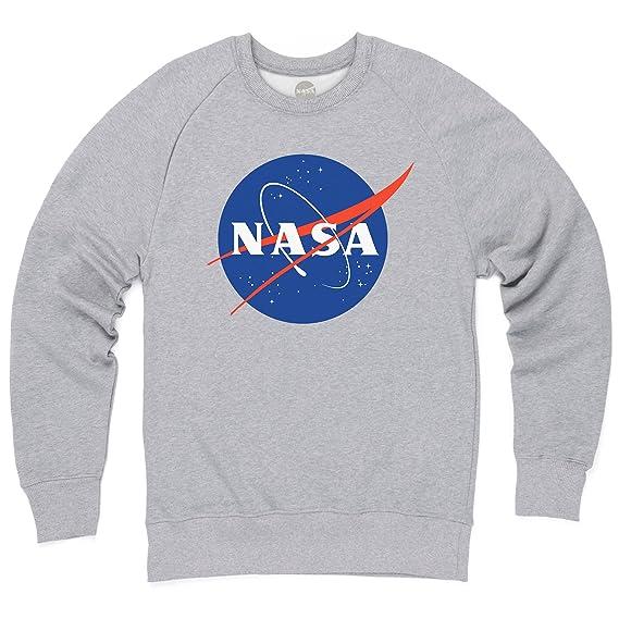 profiter du prix le plus bas meilleur site web nouveaux articles Official NASA White Logo Pull col Rond, pour Homme: Amazon ...
