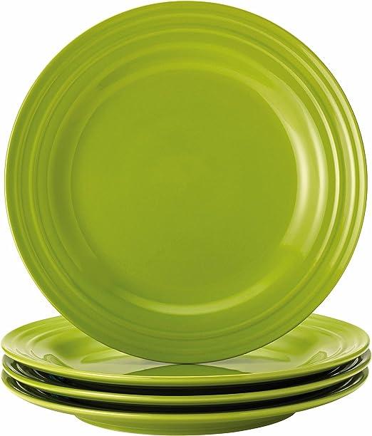Set of 4 Rachael Rachel Ray Double Ridge Salad Plates RED