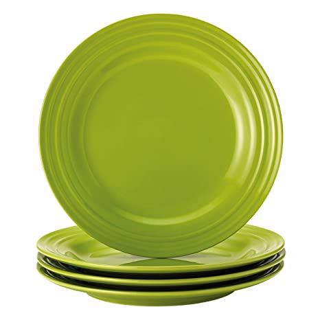 Rachael Ray Dinnerware Double Ridge 4-Piece Dinner Plate Set  sc 1 st  Amazon.com & Amazon.com | Rachael Ray Dinnerware Double Ridge 4-Piece Dinner ...