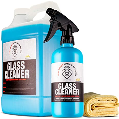 Car Window Cleaner >> Shine Society Glass And Window Cleaner 100 All Natural Anti Streak Formula Made For Tinted And Non Tinted Car Windows Value Pack
