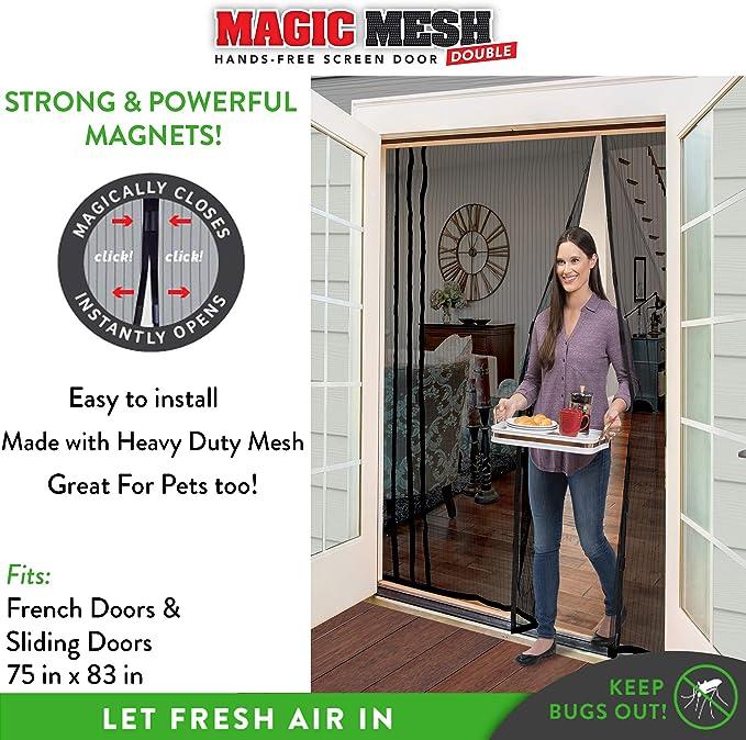 Magic Mesh Hands Free Screen Door Mesh NEW in BOX