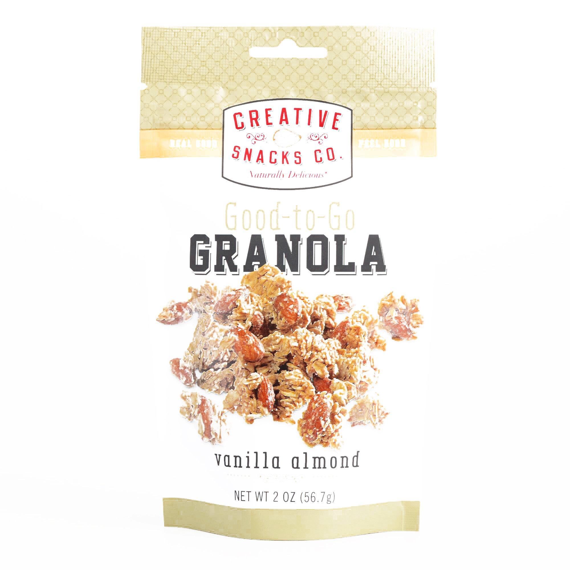 Creative Snacks Co. Vanilla Almond Granola 2 oz each (1 Item Per Order, not per case)