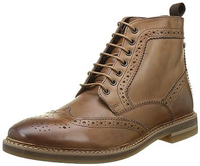 Base London Mens Hurst Tan Leather Boots 8 US