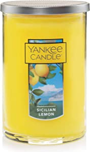 Yankee Candle Large Jar 2 Wick Sicillian Lemon Scented Tumbler Premium Grade Candle Wax with up to 110 Hour Burn Time