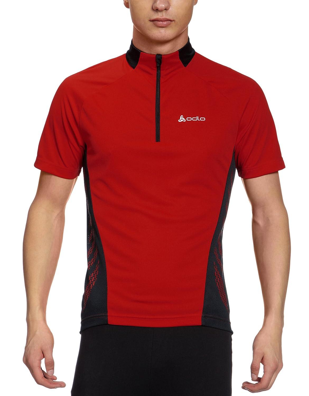 Odlo Herren Teamtrikot Radsport Stand-Up Collar Short Sleeve 1 2 Zip Action