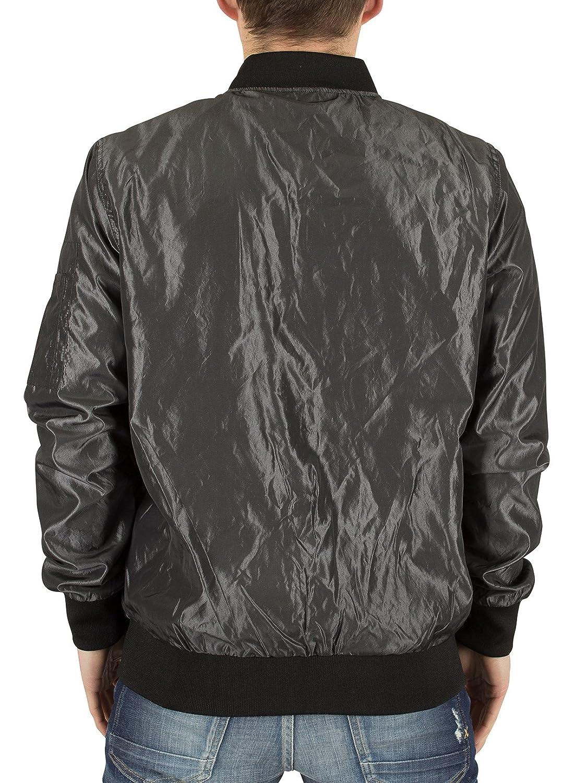 Sik Silk Hombre Elevar Logotipo de la chaqueta de bombardero, Gris, X-Large: Amazon.es: Ropa y accesorios
