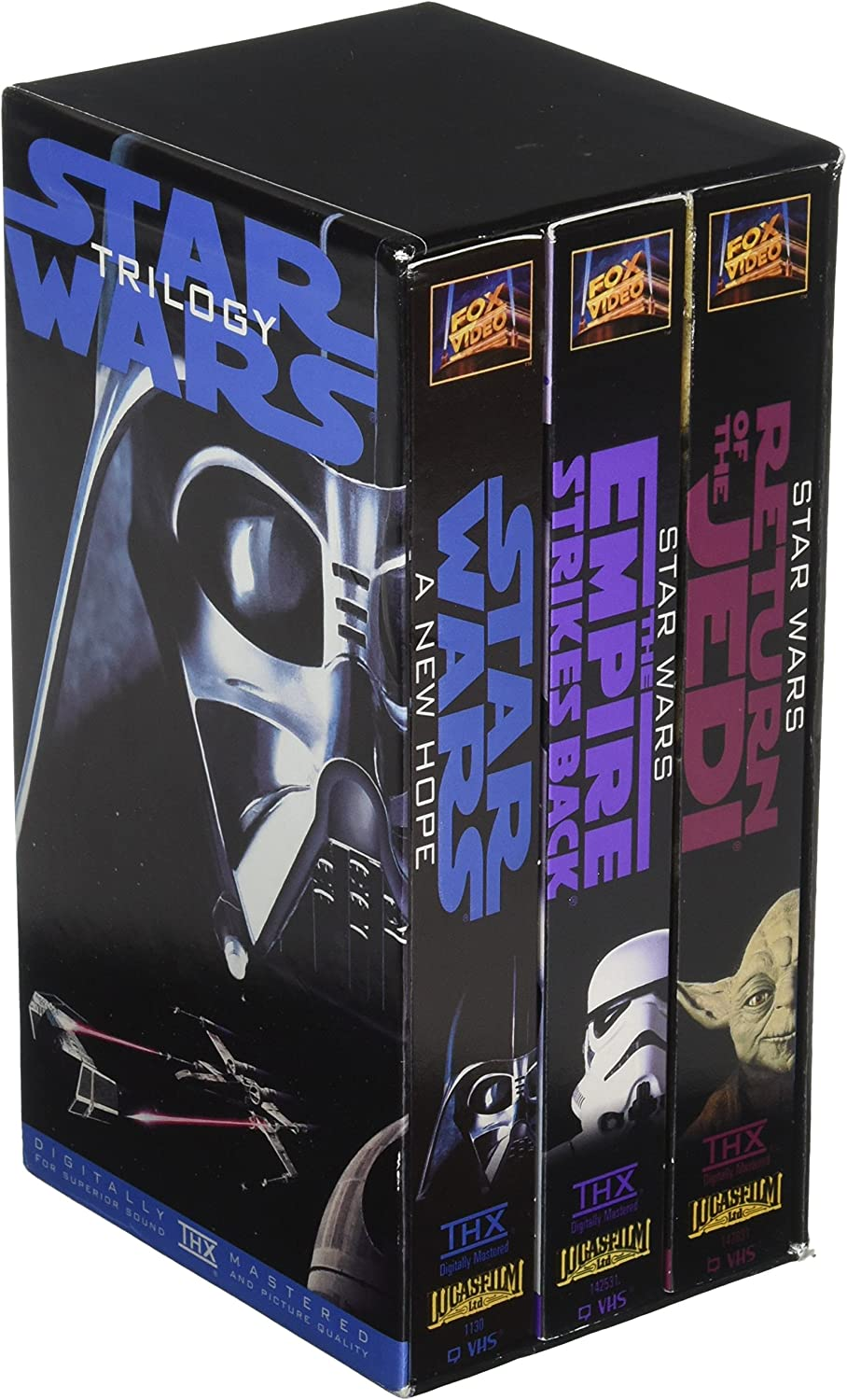 Amazon Com Original Version Star Wars Trilogy Vhs Box Set 1995 Carrie Fisher Harrison Ford Mark Hamill Movies Tv