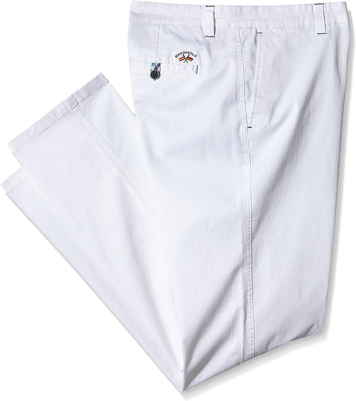 Spagnolo Pantalon Gab. Elast. Chino Regular 0777, Blanco ...