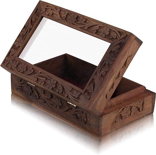 Global Village Bazaar - Caja de recuerdos de madera decorativa ...