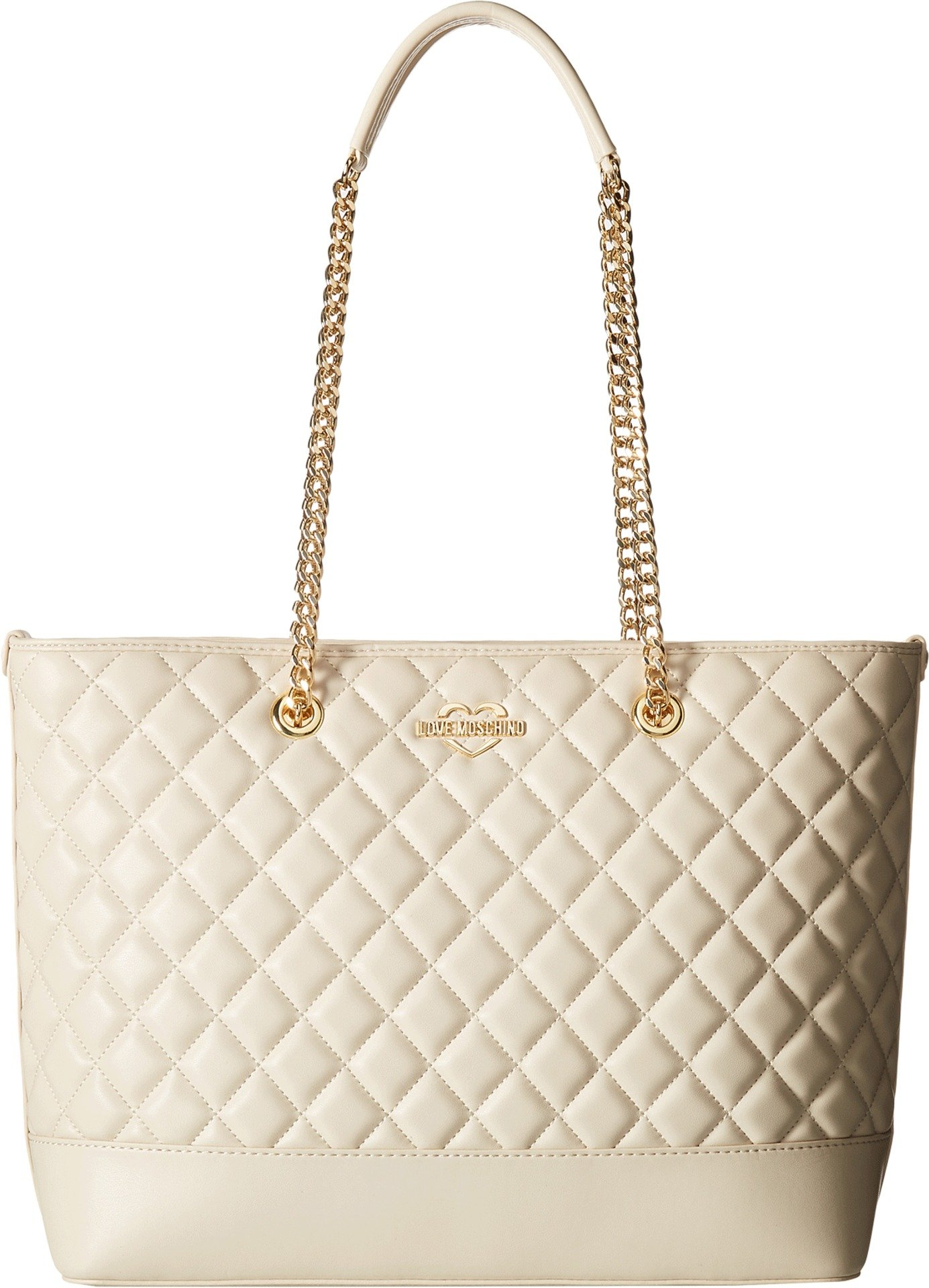 LOVE Moschino Women's Super Quilted Shopping Bag Ivory One Size